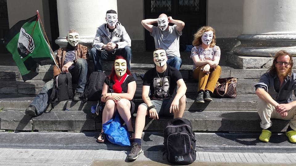 Belgian OpDeathEaters protest June 2015