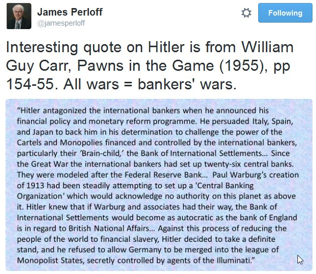 Carr - Hitler opposed bankers