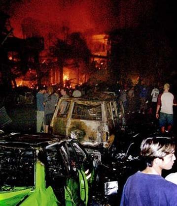 Car at Bali bombiing