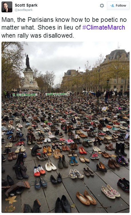 Shoe protest for COP-21
