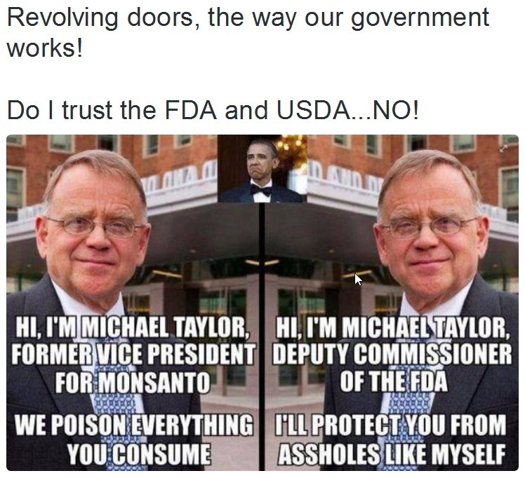 Michael Taylor Monsanto FDA