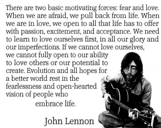 John Lennon on self-love