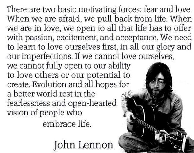John Lennon on self-love