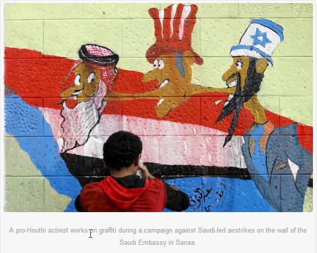 Graffiti artist in Yemen